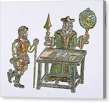 Cosmology Canvas Print - John Dee (1527-1608) by Granger