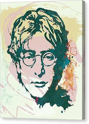 John Lennon Pop Art Sketch Poster Canvas Print by Kim Wang