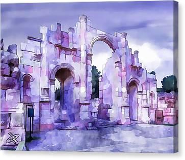 Jordan Canvas Print - Jordan/jerash by Fayez Alshrouf
