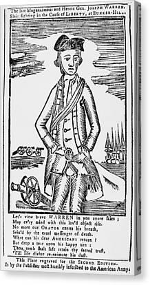 Joseph Warren (1741-1775) Canvas Print by Granger