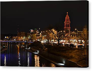 Kansas City Country Club Plaza Canvas Print by Shelley Wood