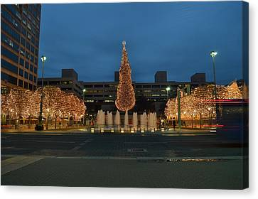 Kansas City Crown Center Canvas Print by Shelley Wood