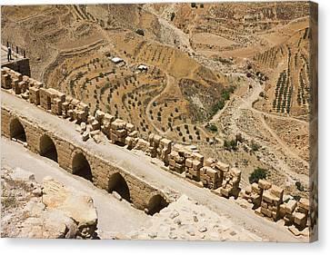 Karak Castle, Jordan Canvas Print by Keren Su