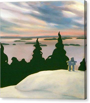 Canvas Print featuring the painting Keeping Watch  by Jo Appleby