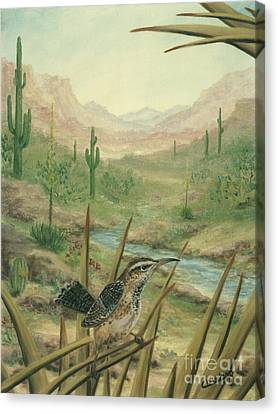 King Of The Cactus Canvas Print by Cathy Cleveland