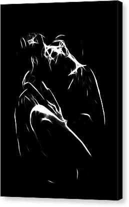 Kiss Me Canvas Print by Steve K