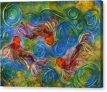 Koi Mating Dance Canvas Print