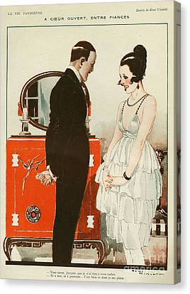 La Vie Parisienne 1919 1910s France Cc Canvas Print by The Advertising Archives