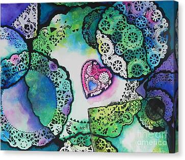 Laced Memories Canvas Print by Chrisann Ellis
