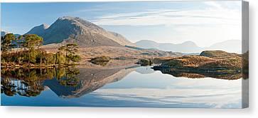 Lake At Dawn, Derryclare Lake Canvas Print