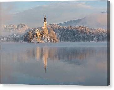Frost Tower Canvas Print - Lake Bled by Ales Krivec
