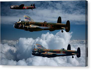 3 Lancaster Bombers Canvas Print