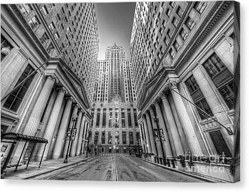 Lasalle Street In Chicago Canvas Print by Twenty Two North Photography