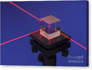 Laser Research Canvas Print by GIPhotoStock