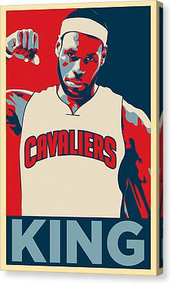 Lebron James Canvas Print by Taylan Apukovska