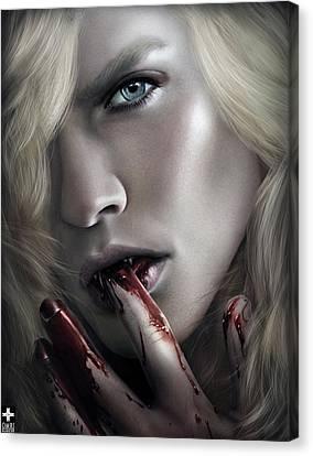 Lestat Licks Blood Canvas Print by Omri Koresh