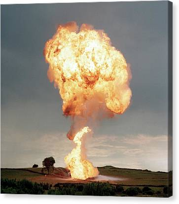 Liquid Petroleum Gas Tank Failure Testing Canvas Print