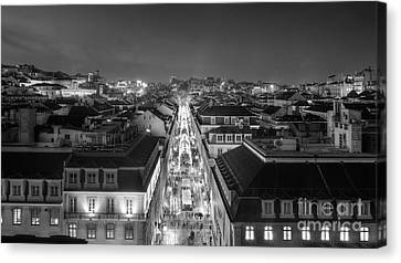 Lisbon Downtown Canvas Print by Carlos Caetano