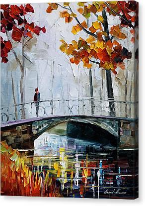 Little Bridge Canvas Print by Leonid Afremov