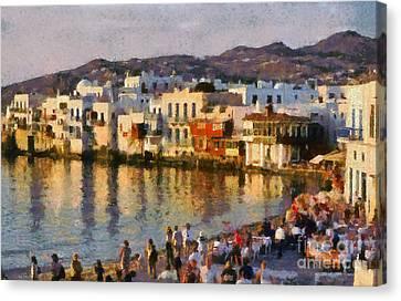 Little Venice In Mykonos Island Canvas Print