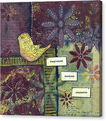 3 Little Words Canvas Print by Sue Brassel