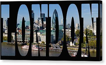 London Skyline Canvas Print by Georgia Fowler