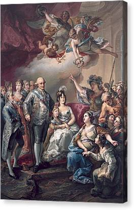 Marie-louise Canvas Print - Lopez Y Porta�a, Vicente 1772-1850 by Everett