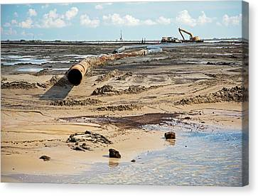 Hermitage Canvas Print - Louisiana Wetlands Restoration Project by Jim West