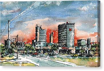 Lubbock Texas Skyline Canvas Print by Tim Oliver
