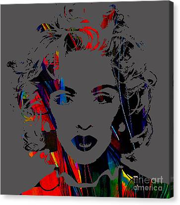 Madonna Collection Canvas Print by Marvin Blaine