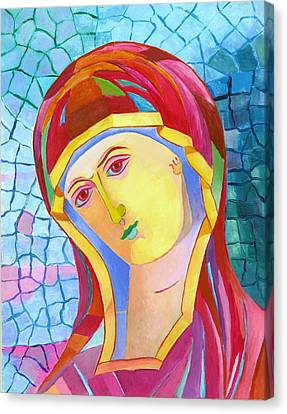 Our Lady Of Grace. Madonna Icon Catholic Art Canvas Print by Magdalena Walulik