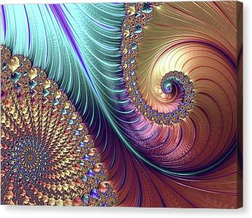Mandelbrot Fractal Canvas Print by Alfred Pasieka