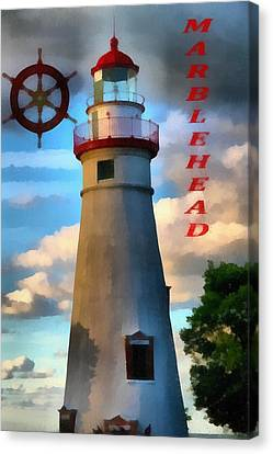 Marblehead Lighthouse Canvas Print by Dan Sproul