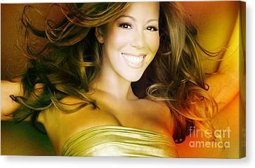 Mariah Carey Canvas Print by Marvin Blaine