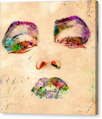 Marilyn Monroe Canvas Print by Mark Ashkenazi