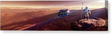 Mars Exploration Canvas Print