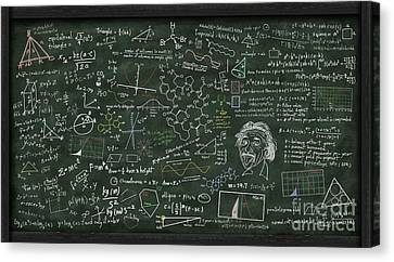 Complex Canvas Print - Maths Formula On Chalkboard by Setsiri Silapasuwanchai