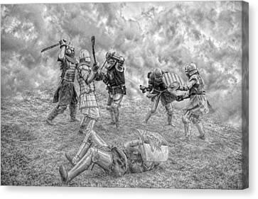 Canvas Print featuring the photograph Medieval Battle by Jaroslaw Grudzinski