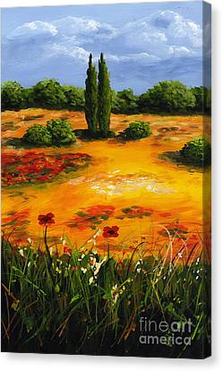 Mediterranean Landscape Canvas Print by Edit Voros