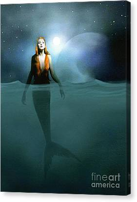 Mermaid Canvas Print by Robert Foster