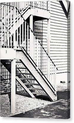 High Park Fire Canvas Print - Metal Stairs by Tom Gowanlock