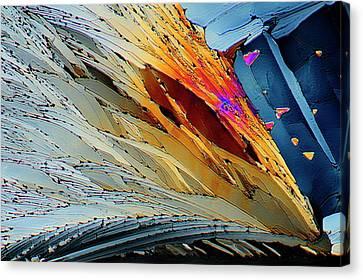 Medication Canvas Print - Metformin Drug Crystals by Antonio Romero