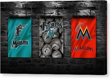 Miami Marlins Canvas Print by Joe Hamilton