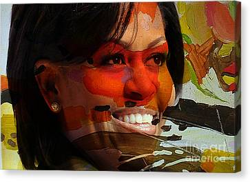 Michelle Canvas Print - Michelle Obama by Marvin Blaine