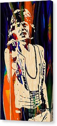 Mick Jagger Of The Rolling Stones Painting Canvas Print