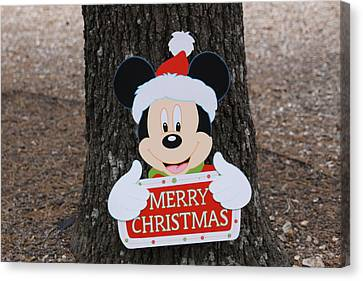 Mickey Mouse Canvas Print by Dick Willis