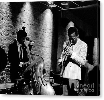 Performers Canvas Print - Miles Davis And Buster Williams At The Penthouse by Dave Coleman