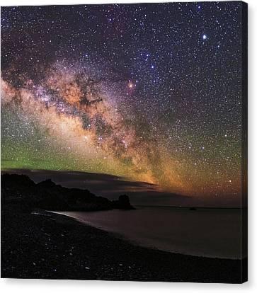 Milky Way Over La Palma Canvas Print