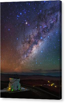 Milky Way Over Paranal Observatory Canvas Print by Babak Tafreshi