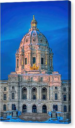 Minnesota State Capitol St Paul Canvas Print by Amanda Stadther